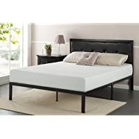 Deals on Zinus Cherie Faux Leather Classic Platform Bed Frame Full
