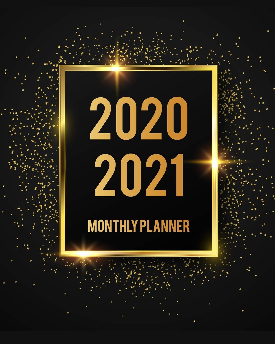 Amazon.com: 2020-2021 Monthly Planner: Black Cover 2 Year ...
