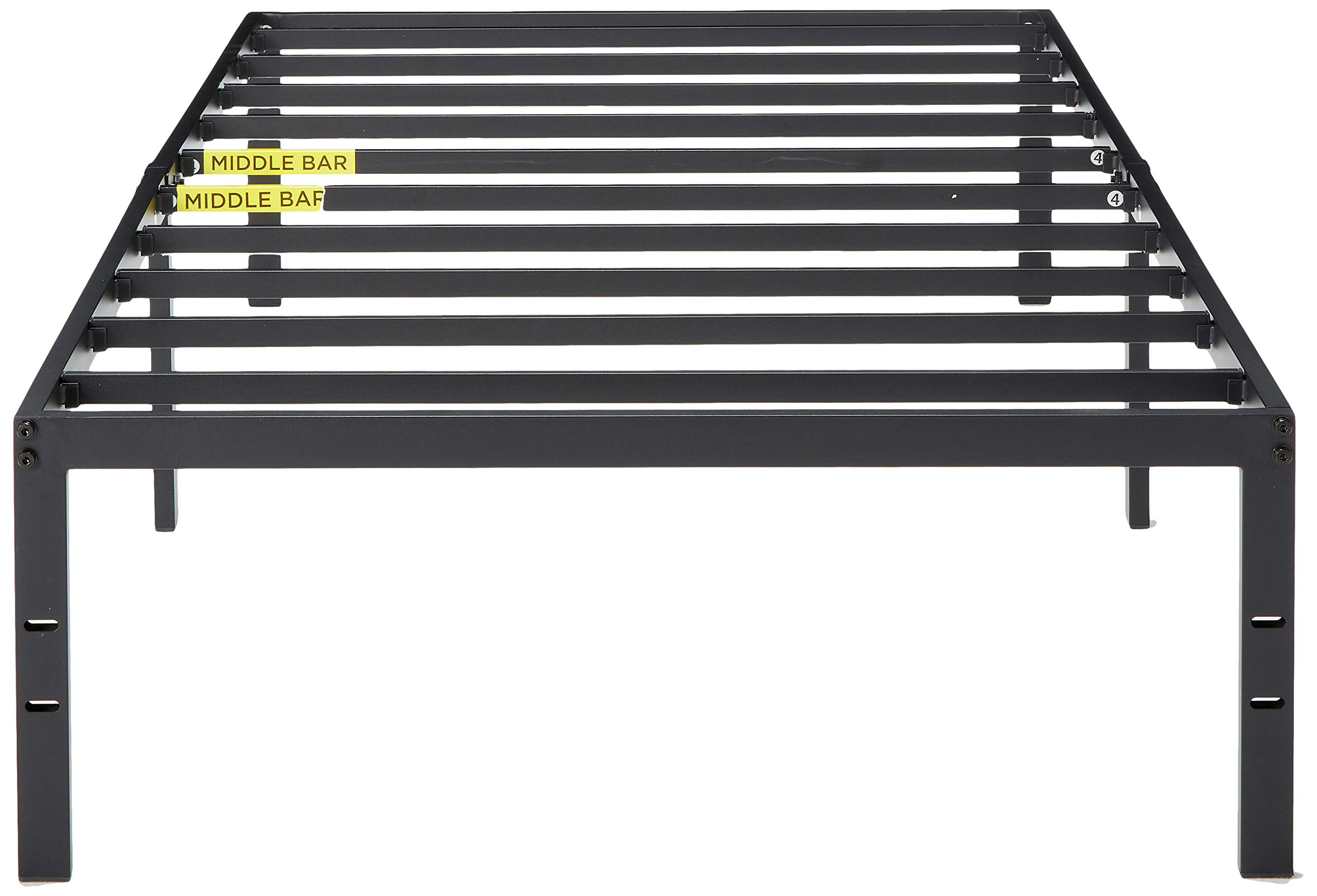 Zinus Van 16 Inch Metal Platform Bed Frame with Steel Slat Support / Mattress Foundation, Twin