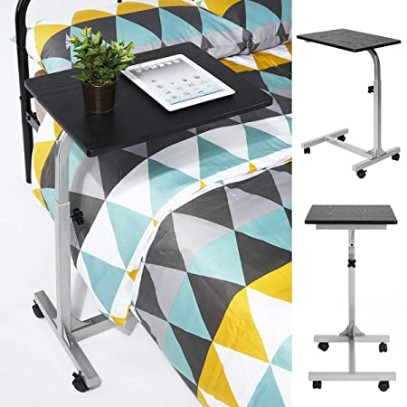 Coavas Overbed Table Medical Adjustable Portable Notebook Desk