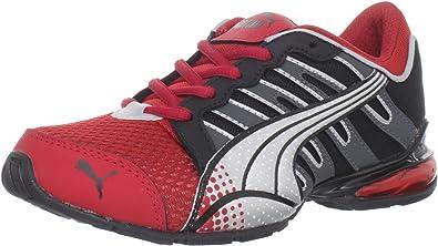 Puma Voltaic 3 - Zapatillas de Running de sintético para niño Rojo Red-Black-Dark Shadow-Silver 5.5 UK: Amazon.es: Zapatos y complementos