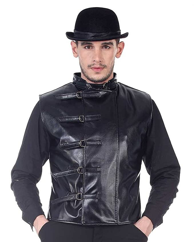 Men's Steampunk Clothing, Costumes, Fashion Steampunk Victorian Costume Steampunk Leather Jacket $49.95 AT vintagedancer.com