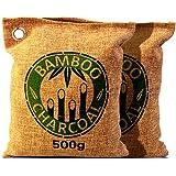 DecentGadget® 500g Air Purifying Bamboo Charcoal Bag Natural Charcoal Deodorizer Naturally Air Freshener Can Release Natural Mineral(500G charcoal bag)