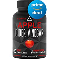 Apple Cider Vinegar Capsules - 100 Capsules 1950 MG - Natural Weight Loss - Healthy Diet - Appetite Suppressant - Detox - Powerful Cleanser Pills - Fat Burners for Men & Women - Metabolism Booster