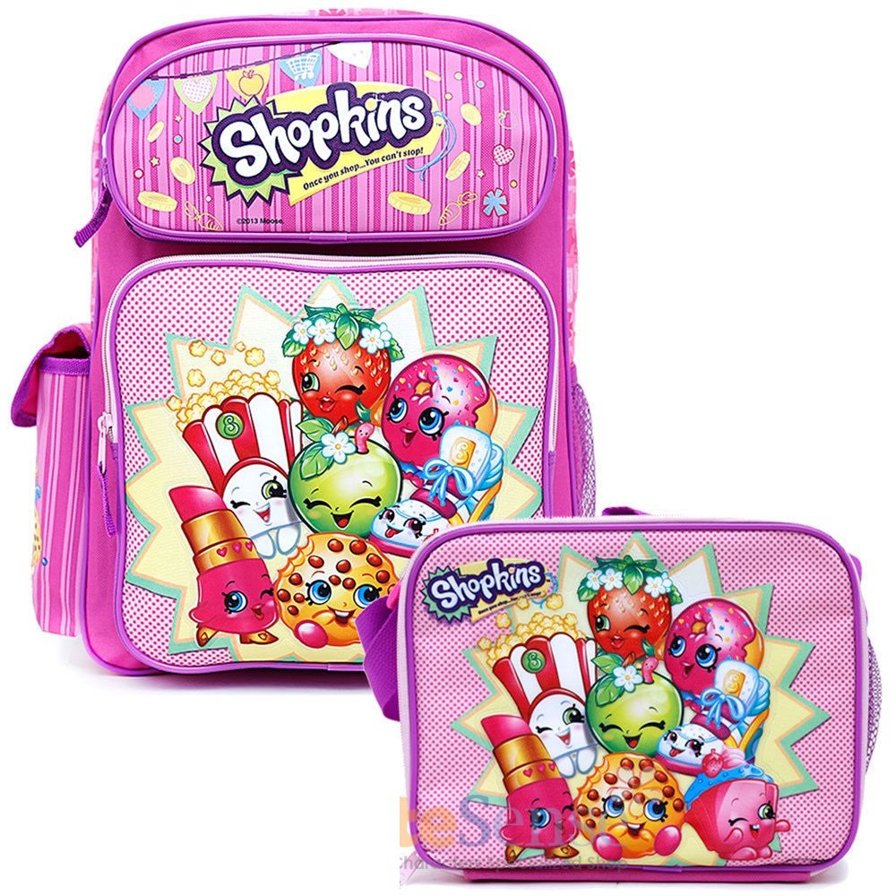 [Shopkins]Shopkins School Backpack Set 16 Large Backpack with Lunch Bag 152264 [並行輸入品]   B01BUJ0PEK