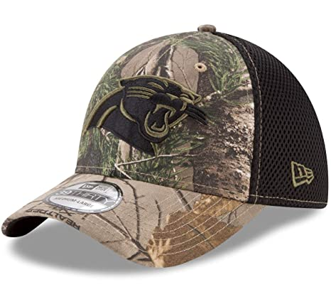 0b615a9d497 Image Unavailable. Image not available for. Color  New Era Carolina  Panthers NFL 39THIRTY Realtree Neo Flex Fit Camo Hat