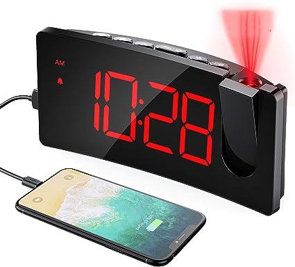 Mpow sveglia con proiettore, sveglia digitale con adattatore e porta usb, 5` GEHM472AREU