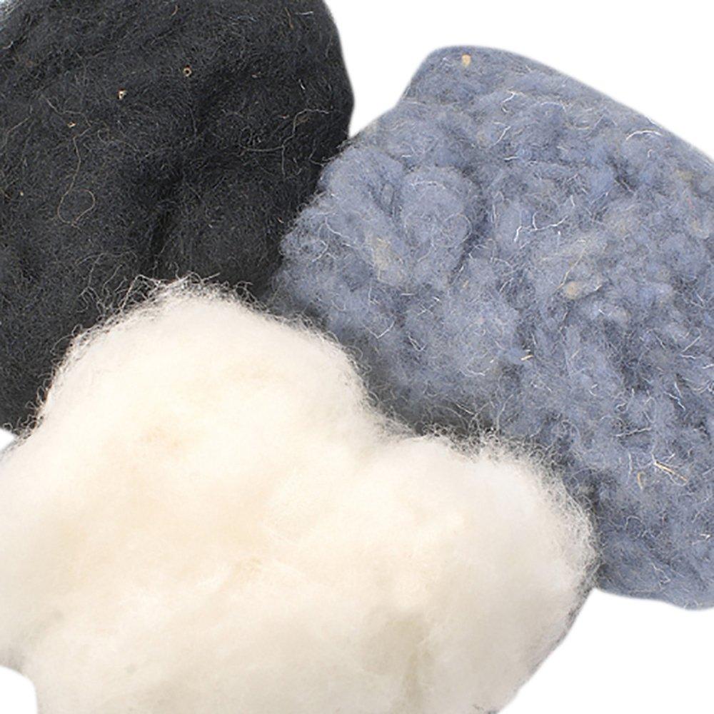 Efco 50 g Wool for Felting in Black Mix 1008097