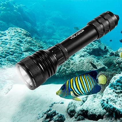 Lampe de torche étanche pour plongée sous-marine T6 LED