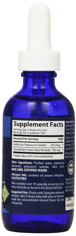 Trace Minerals investigación liquimins 225 mg Ionic yodo de yoduro de potasio líquido 59 ml: Amazon.es: Salud y cuidado personal