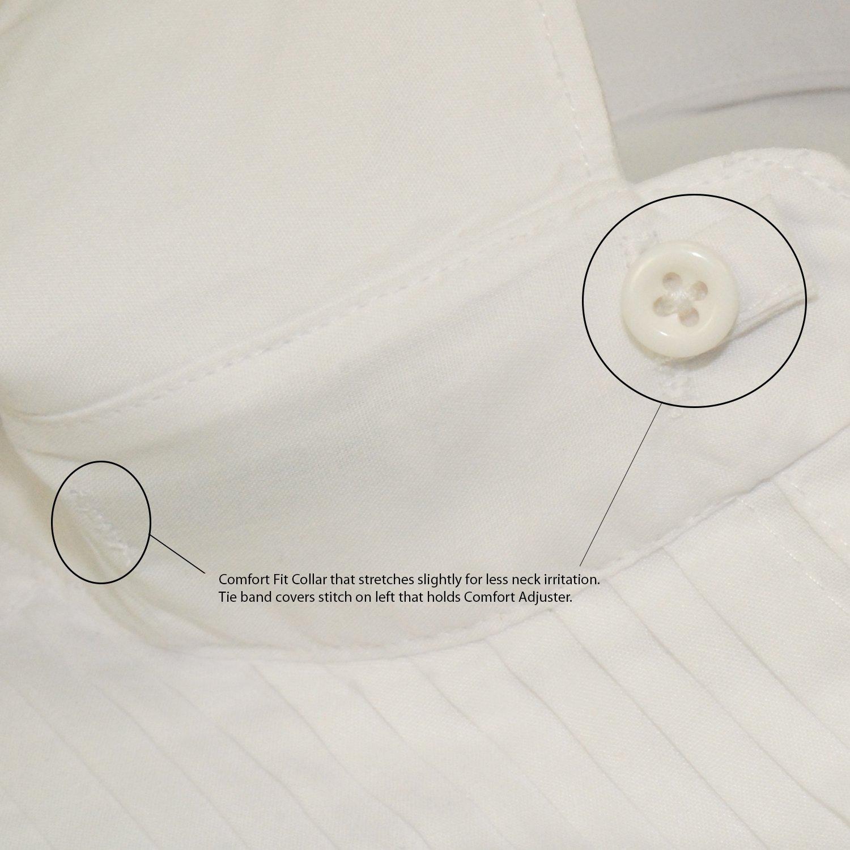 Tuxedo Shirt White 1//4 Pleat Laydown Collar