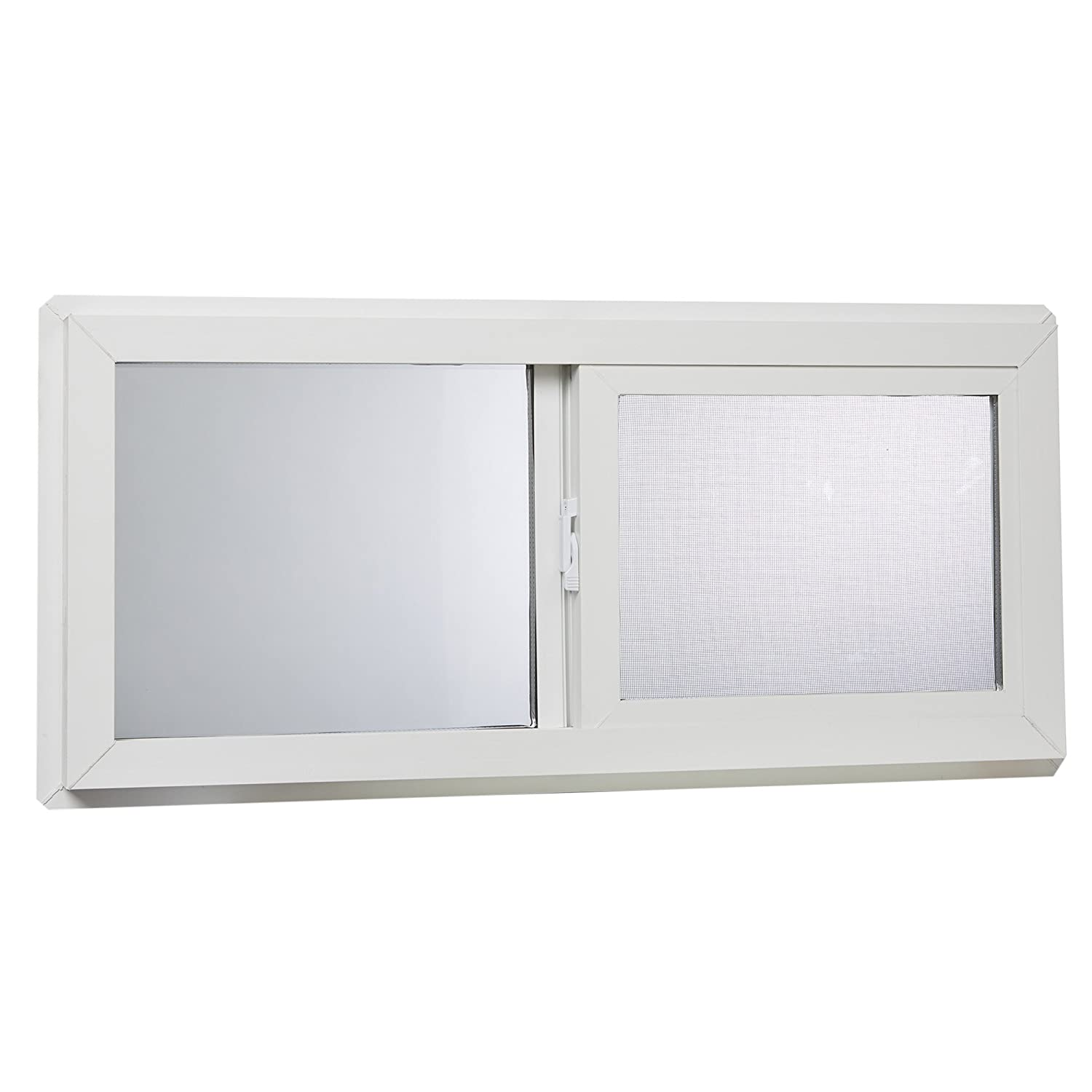 "Park Ridge VBSI3214PR Vinyl Basement Slider Window, 32"" x 14"", White"