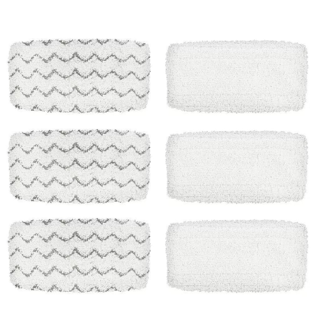BettaWell Steam Mop Refill Pads Compatible with Bissell 1252 1606670 1543 1652 1132M 1530 11326 Symphony Hard Floor Vacuum Steam Cleaner Series (Pack of 6) by BettaWell