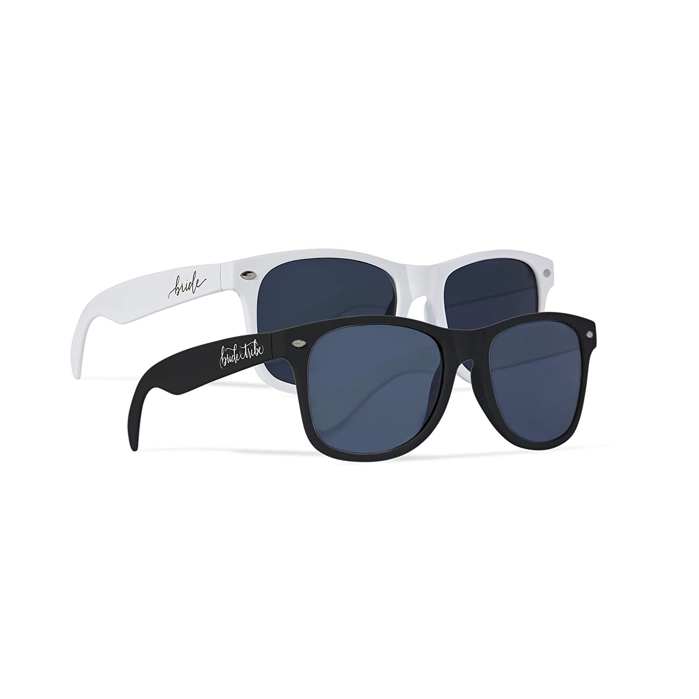 a6dc94162d50 Amazon.com  10 Piece Set of Bride Tribe and Bride Sunglasses ...