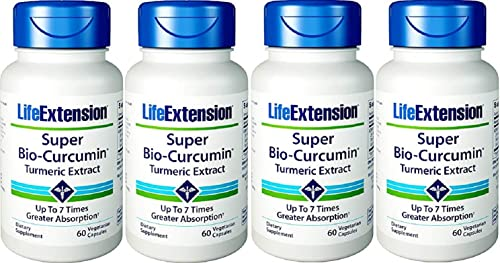 Life Extension Super Bio-Curcumin 400mg, 60 Vegetarian Capsules – 4-Pak