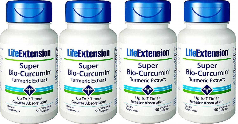 Life Extension Super Bio-Curcumin 400mg, 60 Vegetarian Capsules – 4-Pak