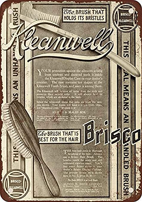Brisco-Kleanwell Brushes Póster de Pared Metal Creativo ...
