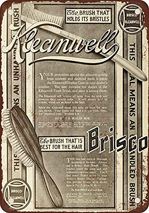 MiMiTee Brisco-kleanwell Brushes Cartel De Chapa Placa Metal ...