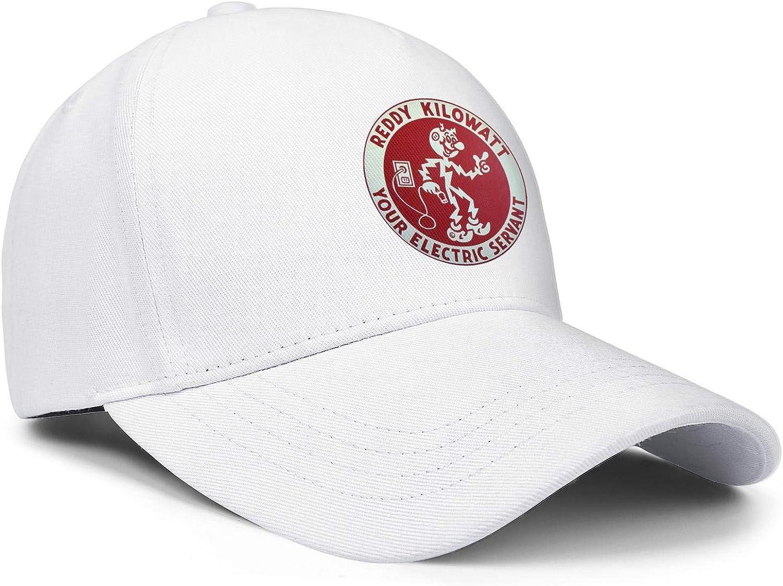Mens Baseball Caps Womens Snapbacks WUSIMEI Cool Dad Hats Logo-Reddy-Kilowatt