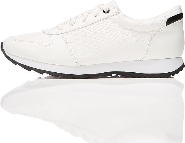 find. Zapatillas Grabado Reptil para Mujer, Blanco (White), 35.5 EU: Amazon.es: Zapatos y complementos