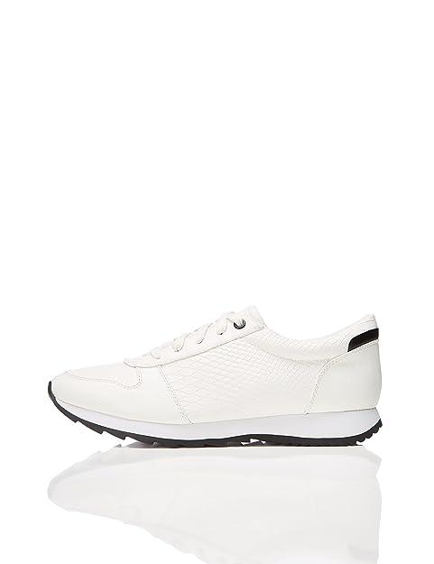 Find Zapatillas Retro para Mujer, Blanco (White), 35.5 EU