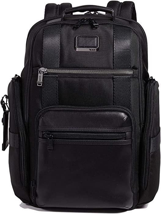 TUMI - Alpha Bravo Sheppard Deluxe Brief Pack Laptop Backpack - 15 Inch Computer Bag for Men and Women - Black