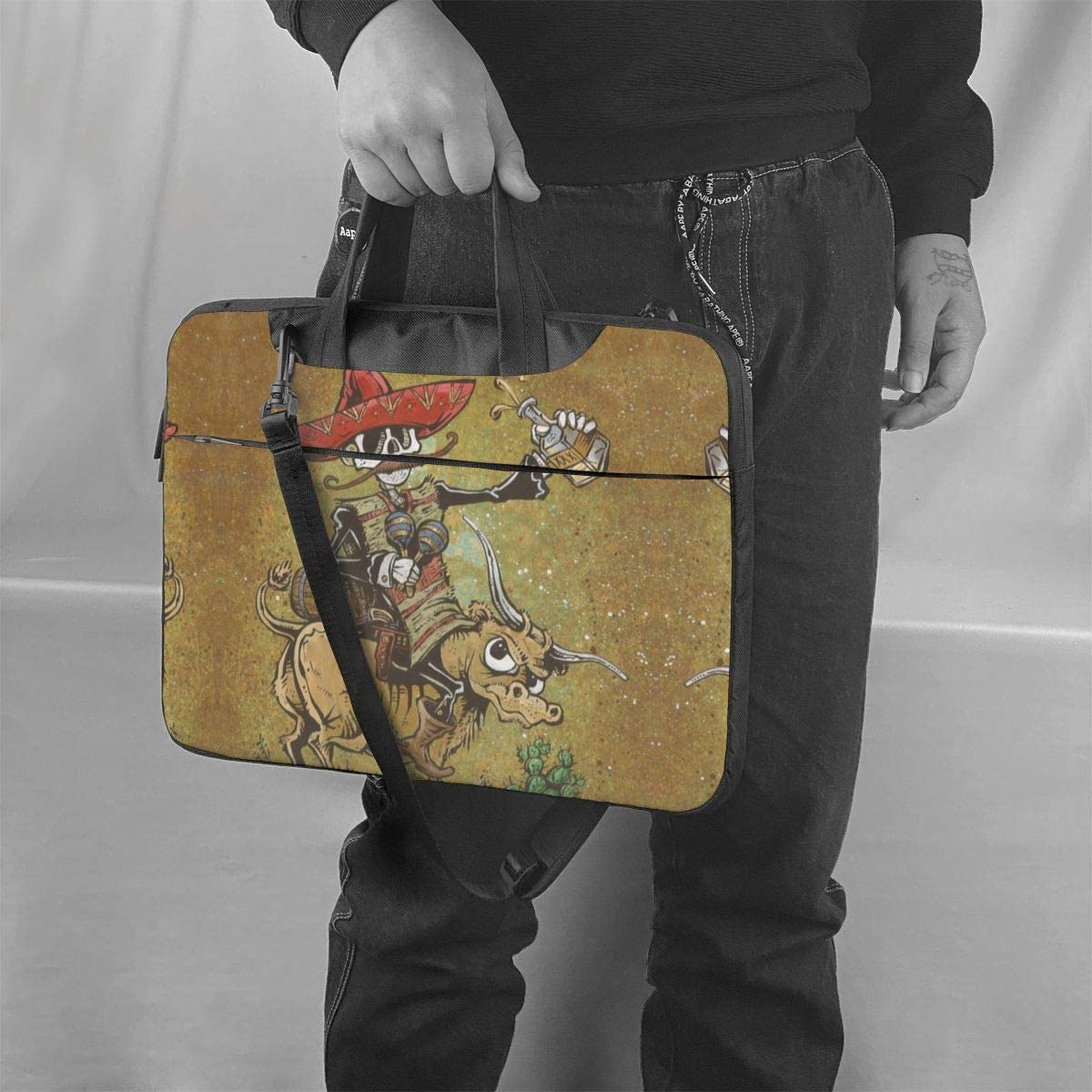 Cows Skull Briefcase Protective Bag Laptop Shoulder Bag 13 Inch
