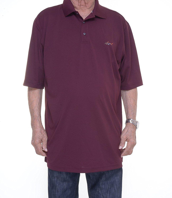 Greg Norman Tasso Elba Big And Tall Iron Polo Size LT