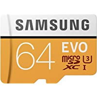 Samsung EVO Grade 3, Class 10 64GB MicroSDXC 100 MB/S Memory Card with SD Adapter (MB-MP64GA/IN)