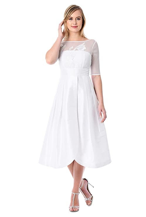 Vintage Inspired Wedding Dress | Vintage Style Wedding Dresses eShakti Womens Tulip Dress $84.95 AT vintagedancer.com