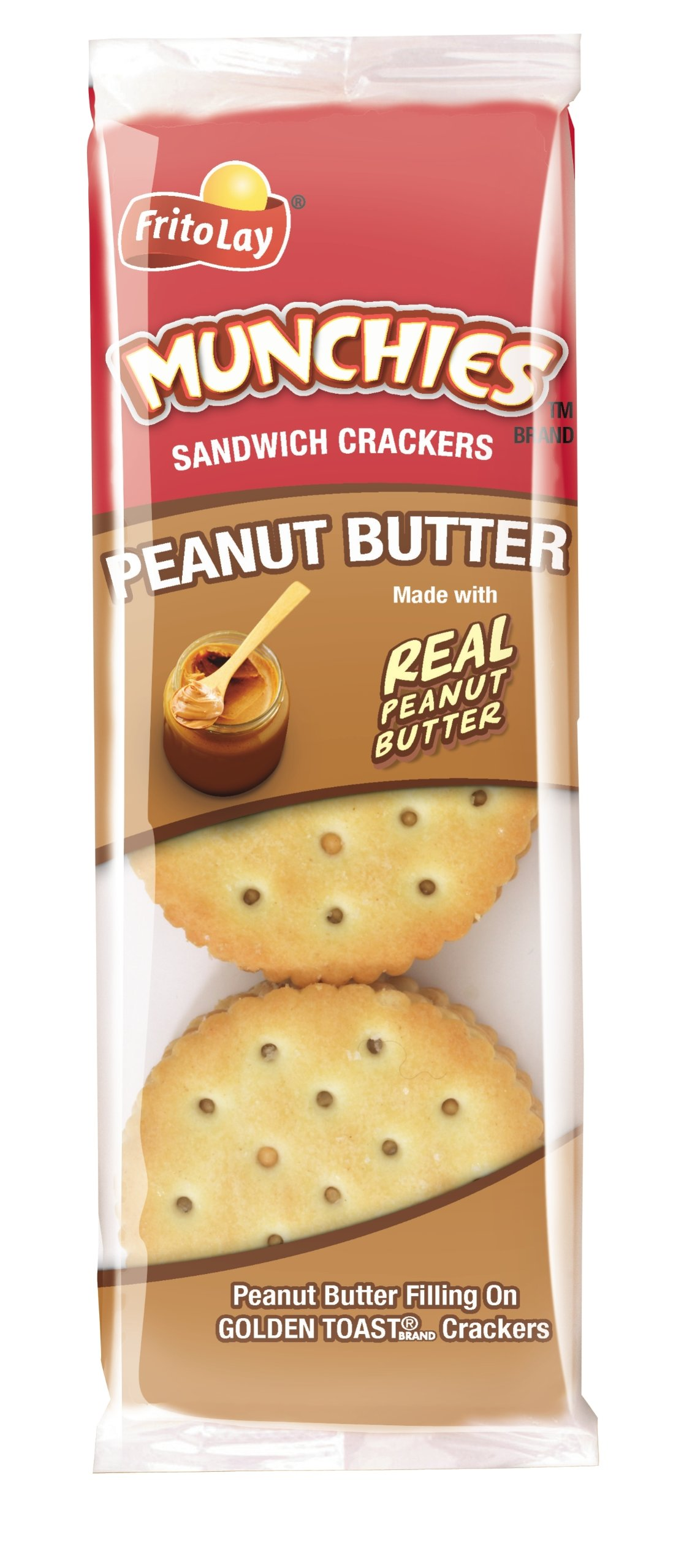 Munchies Peanut Butter on Toast Crackers, 1.42 Ounce (Pack of 24) by Munchies