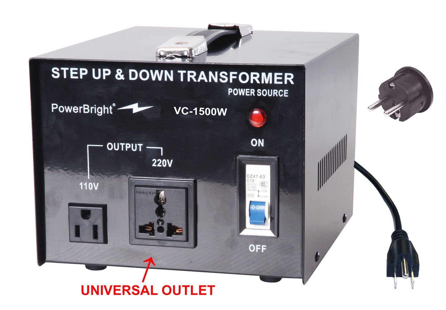 Power Bright Vc1500w Voltage Transformer 1500 Watt Step Led Driver Circuit At 220v 110v Mains Diagram Up Down Converter 110 120 Volt 220 240 Vc Garden Outdoor