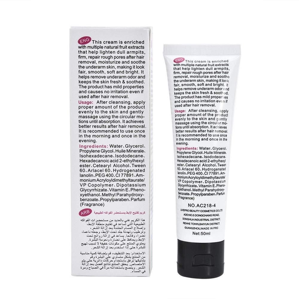 Underarm Whitening Cream for Women - Armpit Lightening Bleaching Serum Scrub for Dark Skin Face Neck Legs Knees & Bikini Area - Deodorant Gel - 100% Proven Safe Effective