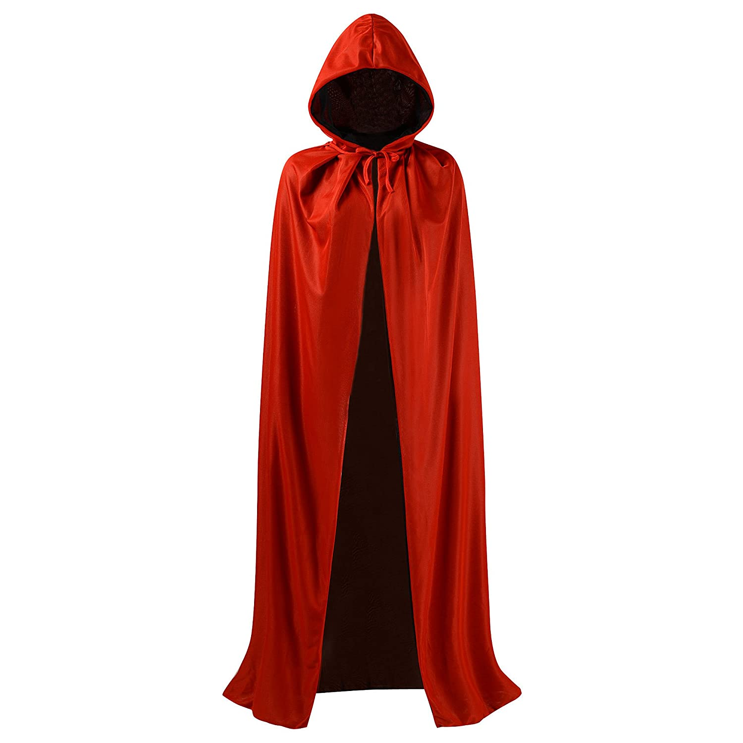 Black and Red Reversible Cloak Masquerade Party Cape Costume