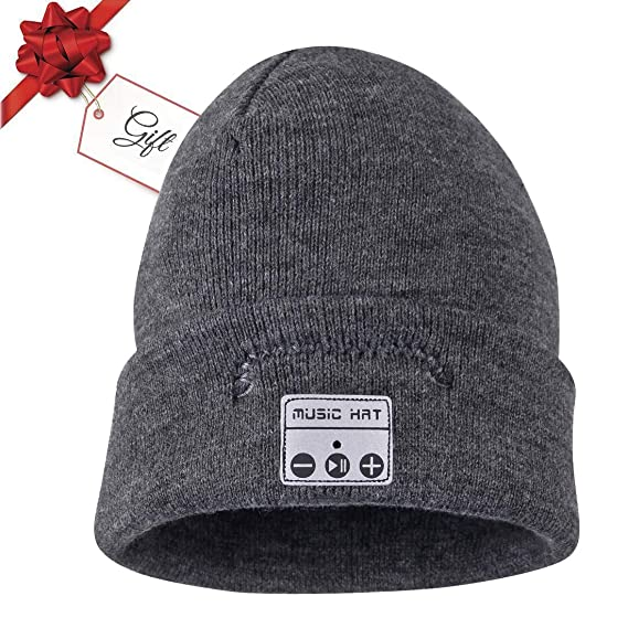 b458d9e87bc Image Unavailable. Image not available for. Color  ChenFec Bluetooth Beanie  Hat Wireless Smart ...