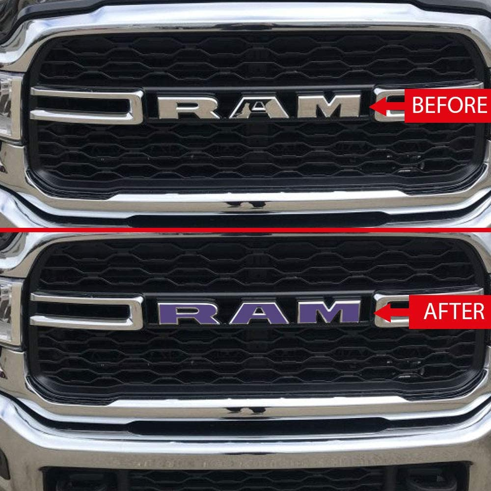 Emblem Do it Yourself Stickers Set Personalize Your RAM IPG for 2019-2020 Ram 1500 Grille Emblem Overlay Decal Stickers