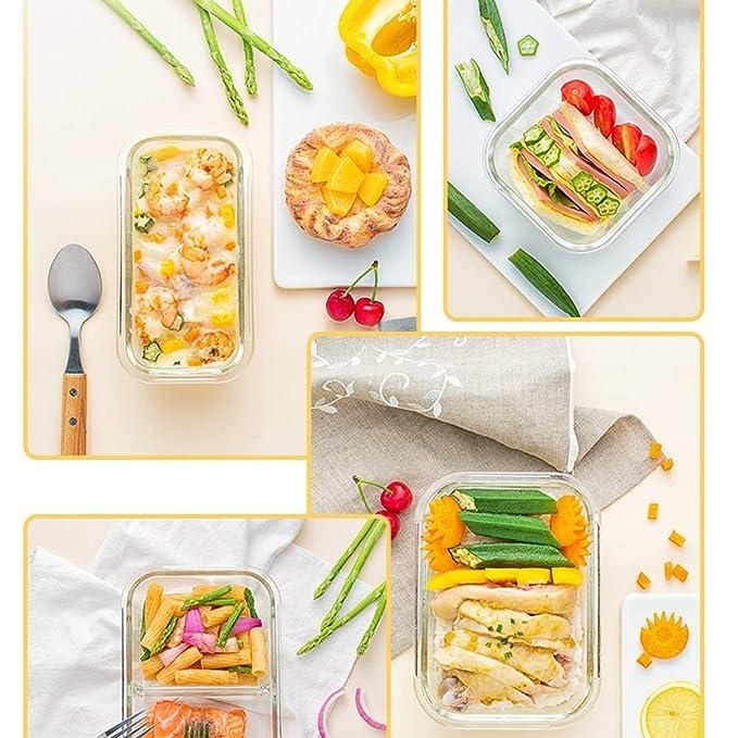 D-YYBB a Prueba de Fugas Bento, 1000ml de Cristal Lunchbox con ...