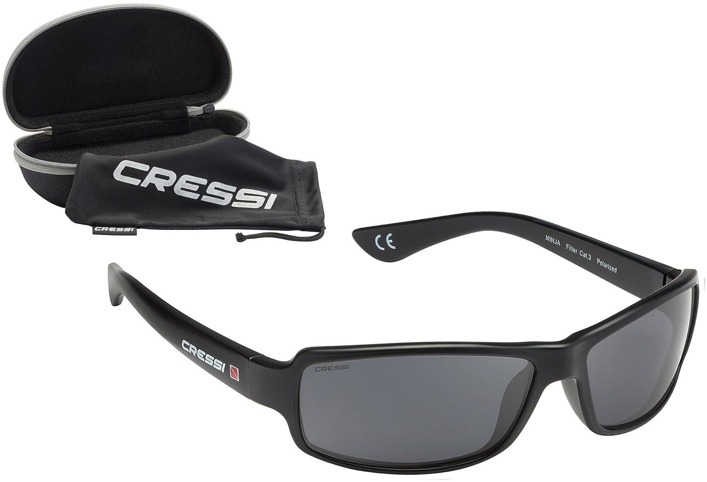 6200052db5c3 Cressi Ninja - Polarised Flexible Sport Sunglasses Mens with Hard Case