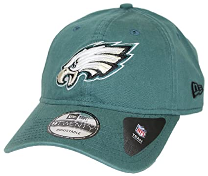 Amazon.com  New Era Men s Philadelphia Eagles 9TWENTY Core Green Hat ... 6e3379e96