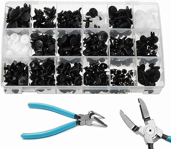 Yongyao 415 Stück Druckknopf Nieten Stoßstange Panel Clip Halter Und Zange Werkzeug Für Ford Küche Haushalt