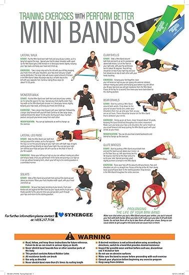 Perform Better Professional Light Exercise Mini XL Band 10 Pack Black
