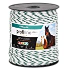 VOSS.farming 200m Electric Fence Rope | Ø 6mm | ProfiLine | 6x0.25 HPC® (High Performance Conductors) | White-Green