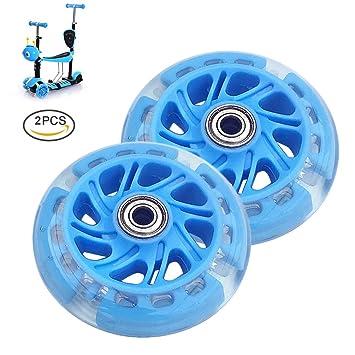 runacc Roller Juego de ruedas Recambio antigolpes Scooter Wheels HSN - 2 - Recambio para bolígrafo ruedas con rodamientos, color azul: Amazon.es: Deportes y ...