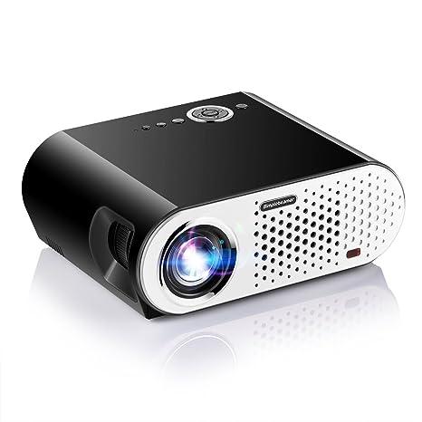Proyectores, papake 1080P HD proyector de cine en casa, 3200 ...