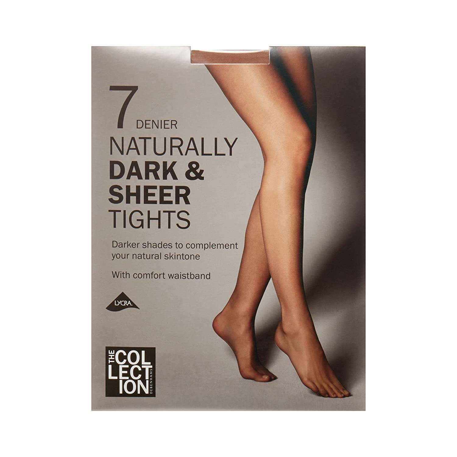 d9de1983053bc The Collection Womens Bronze Naturally Dark And Sheer 7 Denier Tights:  Debenhams: Amazon.co.uk: Clothing