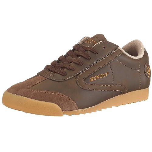 Dunlop Superstar 100 brown 510311919-37 - Zapatillas de cuero nobuck para mujer, color marrón, talla 37: Amazon.es: Zapatos y complementos