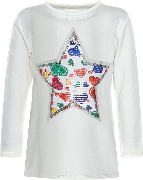 BEZLIT - Blusa - Blusa - Estrellas - Cuello redondo - Manga Larga - para niña Weiß 12 Años / 152 cm : Amazon.es: Ropa y accesorios