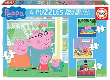 Oferta amazon: Educa Peppa Pig Conjunto de Puzzles Progresivos, multicolor (15918)