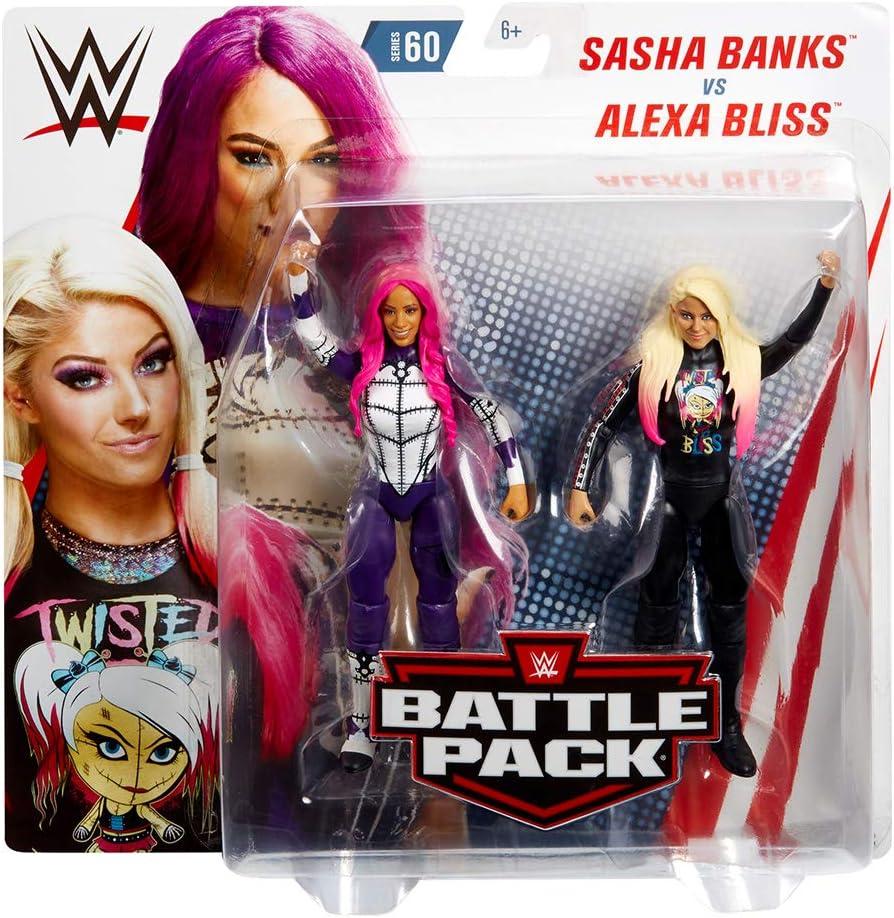 WWE - Pack de 2 figuras de acción luchadores Sasha Banks vs Alexa ...
