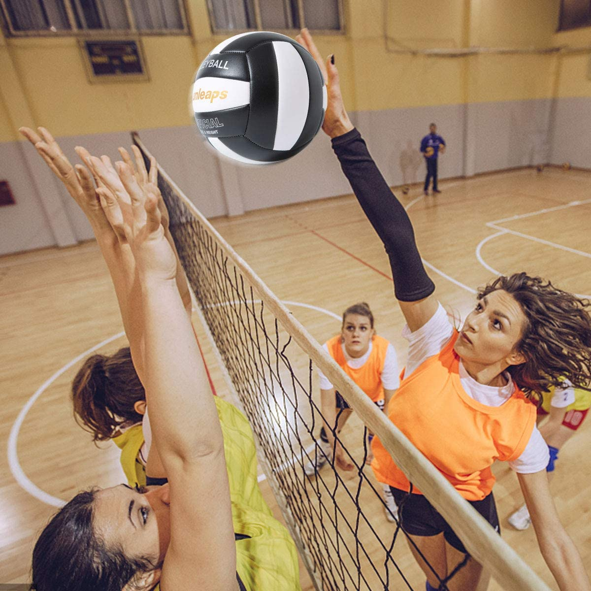 Runleaps Soft Indoor Volleyball Waterproof Volleyball Light Touch Recreational Ball for Pool Gym Indoor Outdoor Size 5